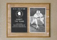 "Hall of Fame Plaque: Everett ""Tye"" Tiland, Football (Linebacker), Class of 1989"
