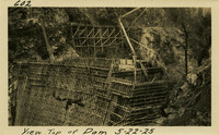 Lower Baker River dam construction 1925-05-22 View Top of Dam