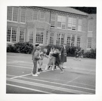 1965 Third Graders Play Red Rover