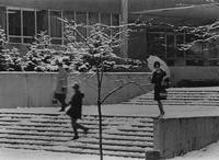 1965 Haggard Hall in Snow