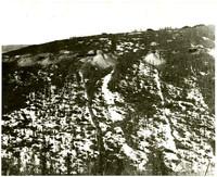Eleven mining operations dot an alpine hillside