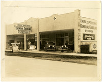 General Super Service gasoline station and Chrysler dealership, Lynden, Washington