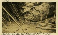 Lower Baker River dam construction 1925-08-15 Rock Surface Run #189 W. Side El.3715