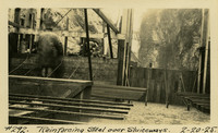 Lower Baker River dam construction 1925-02-20 Reinforcing Steel over Sluiceways
