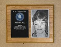 Hall of Fame Plaque: Hester Hill, Badminton, Class of 1977