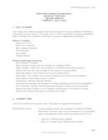 WWU Board of Trustees Meeting Records 2014 June