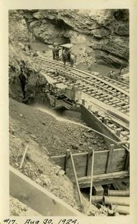 Lower Baker River dam construction 1924-08-30 Railroad