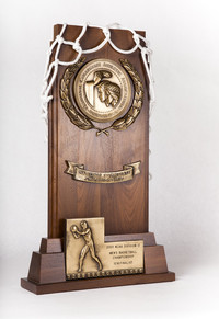 Basketball (Men's) Trophy: NCAA Division 2 championship semifinalist, cut net, 2001