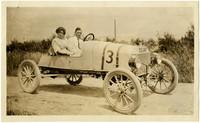 Garnet L. Crews - car used in marathon race to Mt. Baker