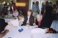 2007 Reunion--Beret (Funkhouser) Harmon, Anne (Kingsbury) Jones-Richardson and Catharine Stimpson