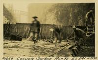 Lower Baker River dam construction 1925-04-23 Concrete Surface Run #82 El.241