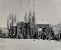 1950 Library: South Side in Snow