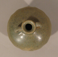 Sawankhalok ware bottle vase, double gourd body with two loop handles at waist