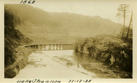 Lower Baker River dam construction 1925-11-17 Lake Shannon (with railroad trestle)