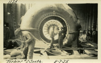 Lower Baker River dam construction 1925-08-07 Turbine #2 South