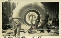 Lower Baker River dam construction 1925-08-07 Turbine #2 South