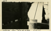 Lower Baker River dam construction 1925-05-31 Interior car #D.L.W.12996