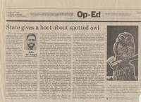 State gives a hoot about spotted owl