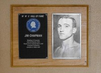 Hall of Fame Plaque: Jim Chapman, Wrestling (147 lbs.), Class of 1984