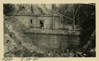 Lower Baker River dam construction 1925-02-28 Forms, low elevation