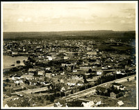 Center section of panorama triptych showing Bellingham, WA, from Sehome Hill overlook