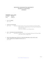 WWU Board of Trustees Packet: 2014-02-3