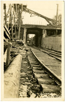 Railway passing through tunnel under construction in Olympia, Washington