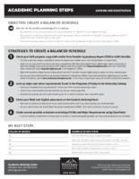 AAC Academic Planning Steps Worksheet