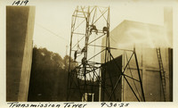 Lower Baker River dam construction 1925-09-30 Transmission Tower