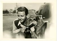 Gunnar Anderson with dog