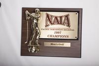 Golf (Men's) Plaque: NAIA Pacific Northwest Regional Champions, 1997
