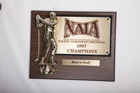 Golf (Men's) Plaque: NAIA Pacific Northwest Regional Champions, 1997