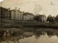 1908 Main Building: Lake in Foreground