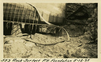 Lower Baker River dam construction 1925-05-12 Rock Surface P.H. Foundation