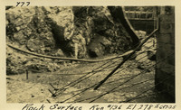 Lower Baker River dam construction 1925-06-17 Rock Surface Run #136 El.2785