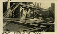 Lower Baker River dam construction 1925-07-22 Steel Trestle at P.H.