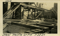 Lower Baker River dam construction 1925-07-22 Steel Trestle at P.H.