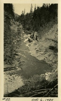 Lower Baker River dam construction 1924-10-06 View of river