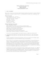 WWU Board of Trustees Minutes: 2018-11-05