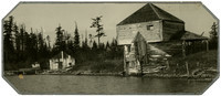 English Camp, San Juan Island  - dilapidated bulding and dock, and territorial block house