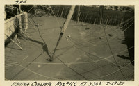 Lower Baker River dam construction 1925-07-19 Placing Concrete Run #166 El.3303