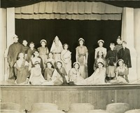 1938 Sixth Grade Class Performing Greek Play