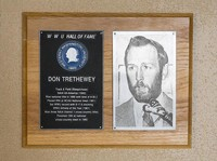 Hall of Fame Plaque: Don Trethewey, Track and Field (Steeplechase), Class of 1977