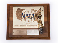 Golf (Men's) Plaque: NAIA District 1 Champions, 1977
