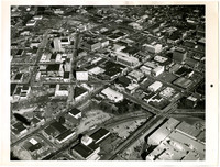Aerial view of downtown Bellingham, WA,