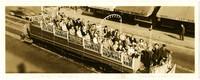 British Columbia Electric Railway trolley car full of passengers