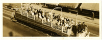 British Columbia Electric Railway trolley car full of passengers