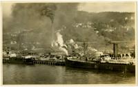 Ships docked at Bloedel-Donovan Lumber Mills on Bellingham Bay