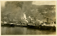 Ships docked at Bloedel-Donovan Lumber Mills on Bellingham Bay