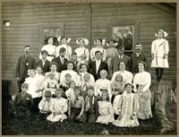 Twelve women in white dresses, Sumas (Wash.)